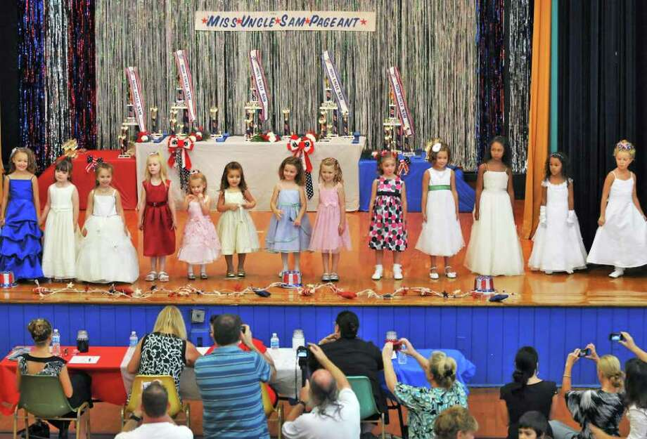 Four to six year olds take the stage in their division of the 2011 Miss Uncle Sam Pageant in Troy Saturday Aug. 20, 2011.   (John Carl D'Annibale / Times Union) Photo: John Carl D'Annibale / 00014334A