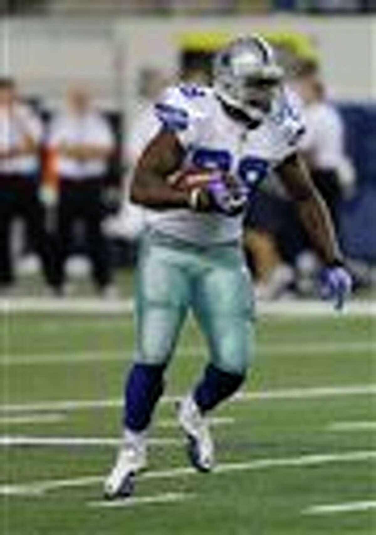 Dallas Cowboys running back Felix Jones (28) during the first half of a preseason NFL football game against the San Diego Chargers Sunday, Aug. 21, 2011, in Arlington, Texas. (AP Photo/Tim Sharp)