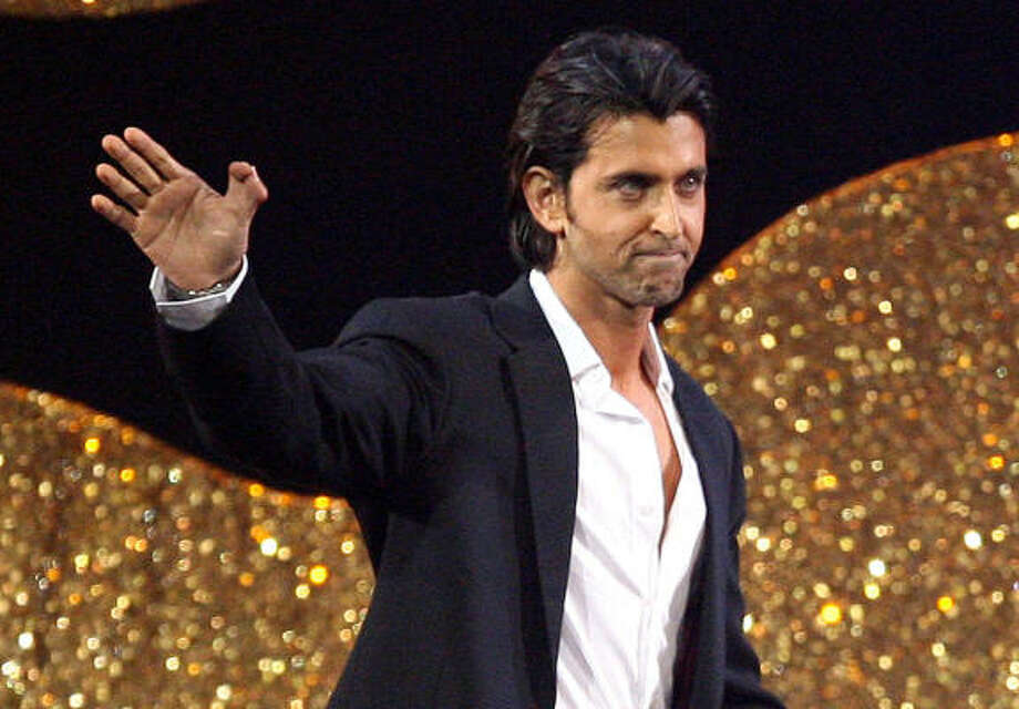 Bollywood star Hrithik Roshan has two thumbs on his right hand, which is to be considered a sign of luck. Photo: DAVE THOMPSON, ASSOCIATED PRESS