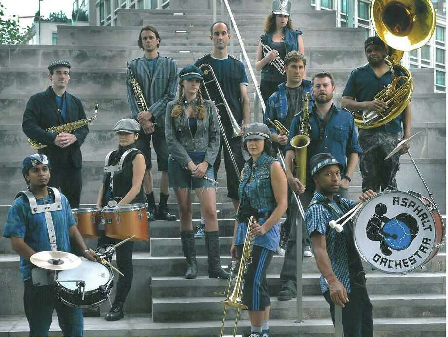 New York City based Asphalt Orchestra will perform flash concerts at the first Annual Silvermine Arts Fest on Saturday, Sept. 17. Photo: Contributed Photo