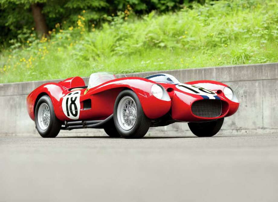 The 1957 Ferrari Testa Rossa became the most expensive car sold at auction, fetching $16.4 million at Gooding & Co. on Aug. 20, 2011. Photo: Pawel Litwinski © 2011 Courtesy Of Gooding & Company / @ 2011 Pawel Litwinski