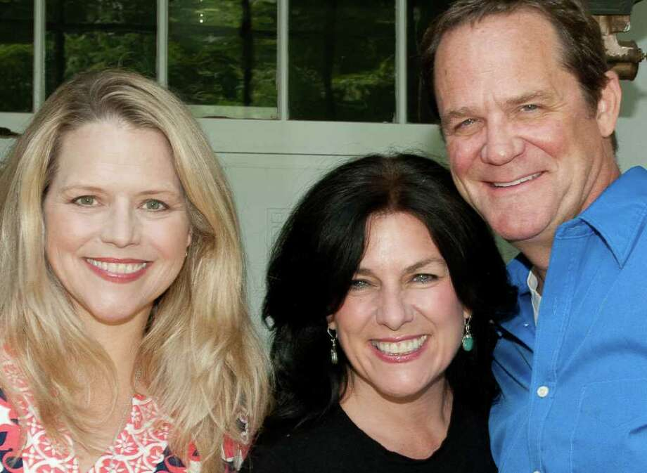 Sarah Pfisterer, Mary Jo Duffy and Rick Hilsabeck. Photo: Contributed Photo / New Canaan News