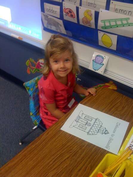 Charlie Jean 1st day of Kindergarten at Barbers Hill ISD