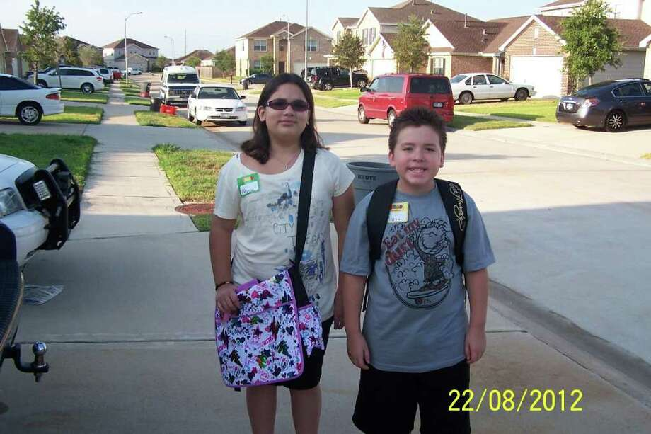 Aly & Marty - first day Cy Fair ISD Photo: Momhouston