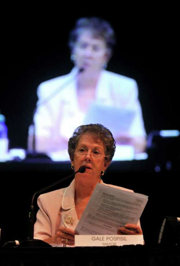 New Braunfels Mayor Gail Pospisil speaks during a city council meeting. On the agenda was the proposed ordinance to ban disposable containers on the Comal River. Photo: Robin Jerstad/Special To The Express-News