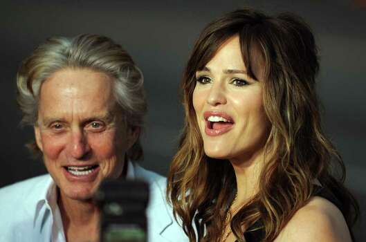 "Actors Michael Douglas and Jennifer Garner arrive for the World premiere of ""Ghosts of Girlfriends Past"" at the Grauman's Chinese Theater in Hollywood, California, on April 27, 2009. AFP PHOTO / GABRIEL BOUYS Photo: AFP/Getty Images"