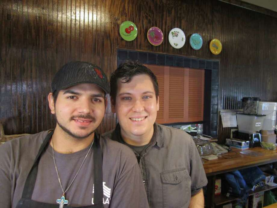 David Trevino, (left) and Fred Anthony of Vegeria Vegan Tex-Mex & American Cuiasine.