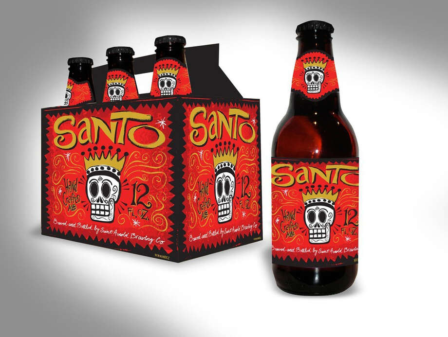 Houston artist Carlos Hernandez designed the Santo Label. Photo: Courtesy Photo