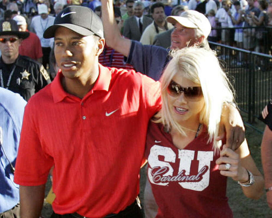 Who:Tiger Woods and Elin Nordegren Married for: 6 years Photo: ROB CARR, AP