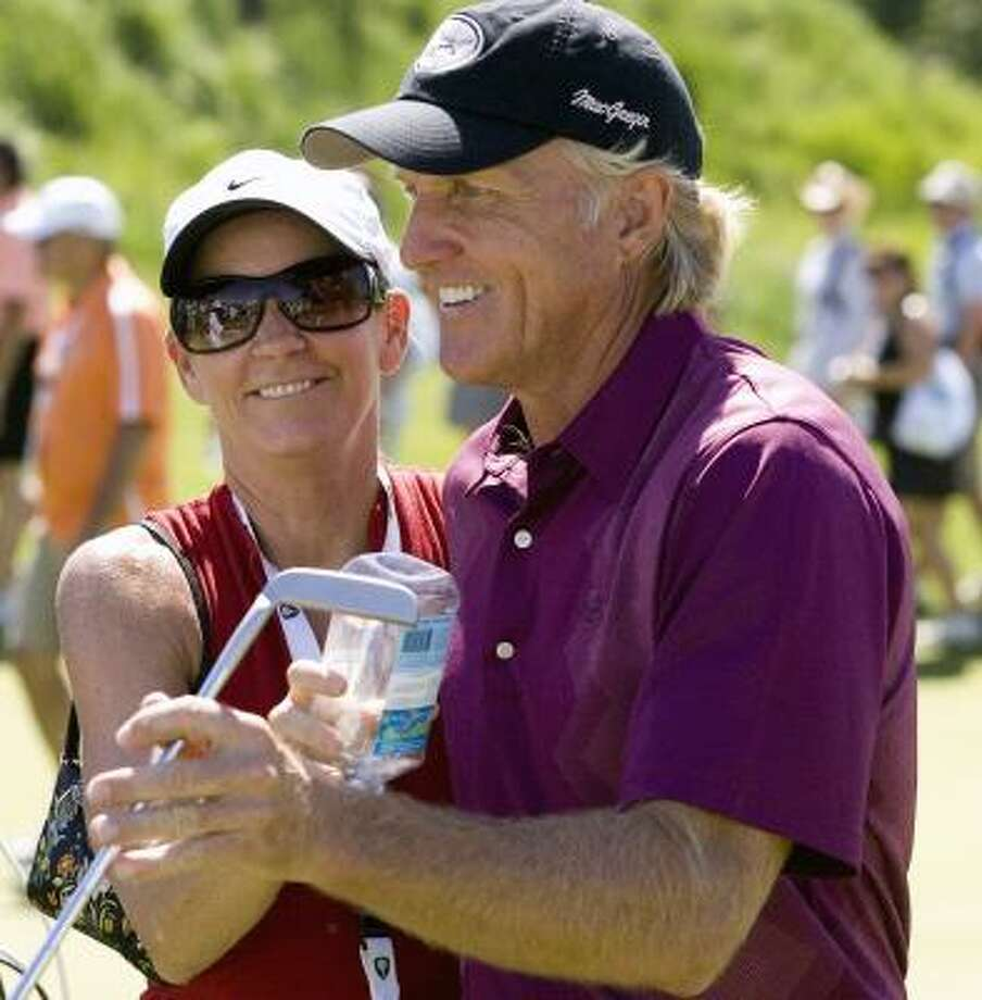 Who: Greg Norman and Chris Evert