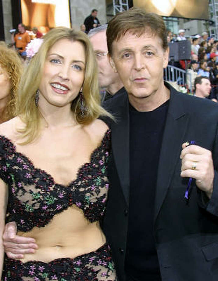 Who:Paul McCartney and Heather Mills