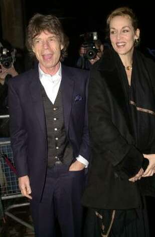 Who: Mick Jagger and Jerry Hall