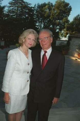 Who: Rupert Murdoch and Anna Murdoch