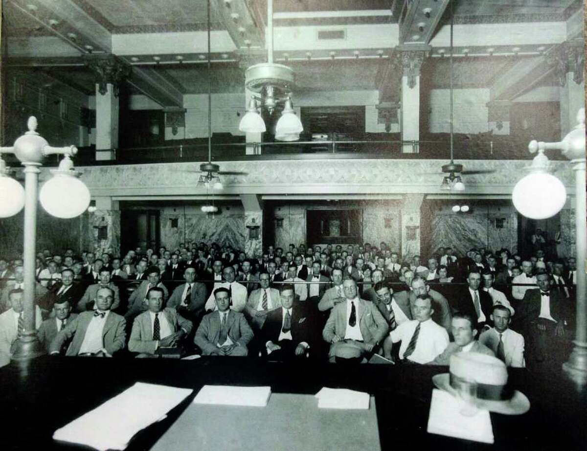 Undated historic photo taken in the 1910 Courthouse.