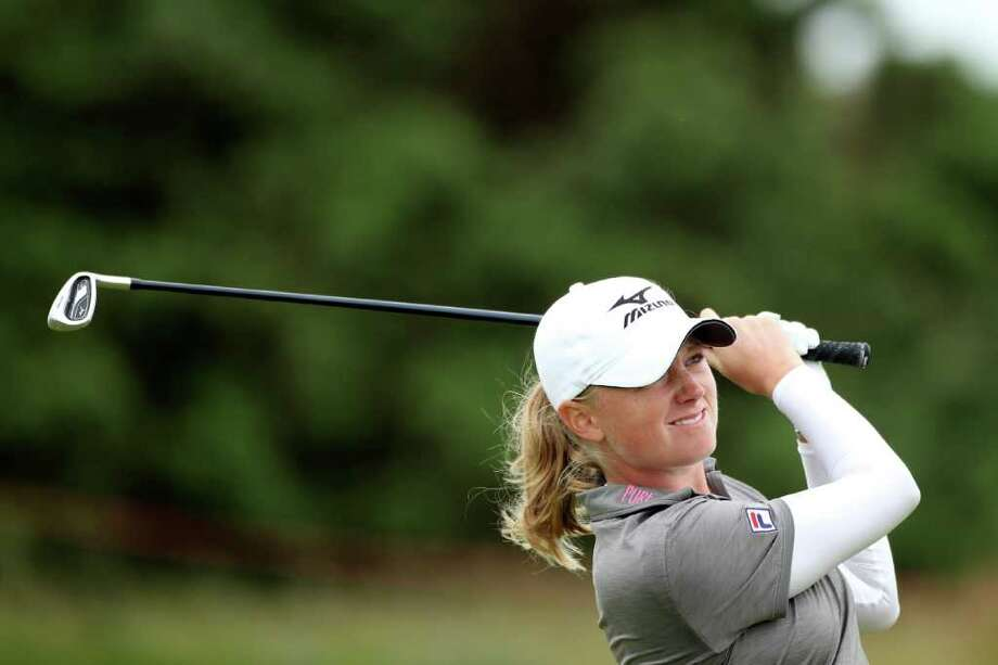 CARNOUSTIE, SCOTLAND - JULY 27:  Stacy Lewis of the USA hits an approach shot during a practice round prior to the 2011 Ricoh Women's British Open at Carnoustie on July 27, 2011 in Carnoustie, Scotland.  (Photo by Warren Little/Getty Images) Photo: Warren Little, Staff / 2011 Getty Images