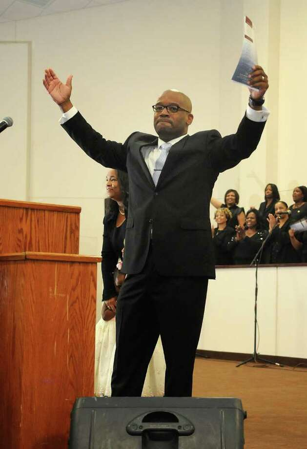 Pastor Timothy Sloan, shown at Humble's St. Luke Missionary Baptist Church last year, plans to take an HIV test in front of his congregation on Sunday to push HIV awareness in the black community. Photo: Jerry Baker, Freelance