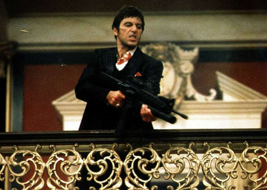 "In ""Scarface,"" Al Pacino played Cuban refugee Tony Montana, who became a cocaine kingpin. Photo: Courtesy Photo"