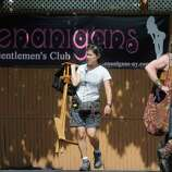 """The movie """"The Place Beyond the Pines"""" is being filmed at Shenanigan's Gentleman's Club in Colonie, NY, on Wednesday, Aug. 24,2011. ( Michael P. Farrell/Times Union)"""
