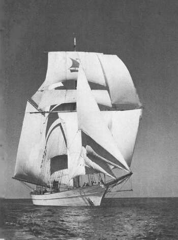 "The Yankee, seen here under full sail, was skippered by Irving and Electa ""Exy"" Johnson. Photo: Contributed Photo"