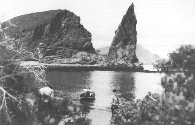 One of Yankee's exciting landfalls was this Galapagos cove, Sullivan's Bay on Bartholomew Island, long before the tour groups started showing up. Photo: Contributed Photo