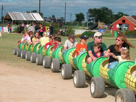 visitors enjoy the activities at Dewberry Farm, 7705 FM 362 in Katy, TX. / handout email