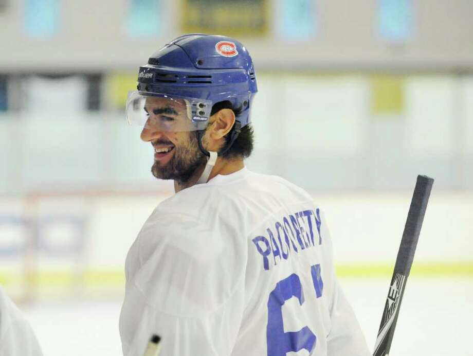 Max Pacioretty of the Montreal Canadiens played for Team White during The Big Assist III hockey game to benefit The Obie Harrington-Howes Foundation at Terry Conners Rink, Stamford, Wednesday night, July 13, 2011. Photo: Bob Luckey / New Canaan News