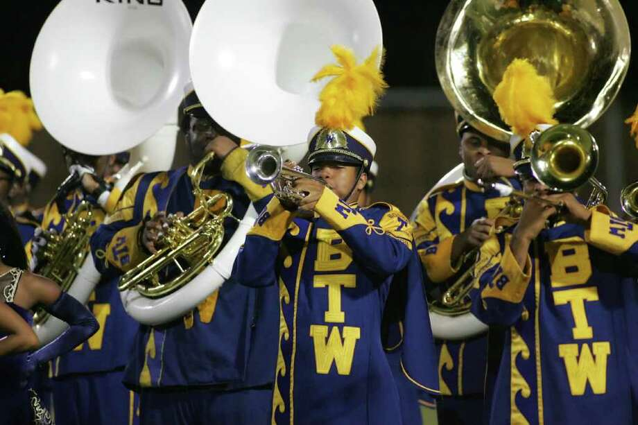 The Washington marching band performs their halftime show Friday night during their match up with Sharpstown.  Photo by Matthew White Photo: Matthew White, Freelance / Freelance