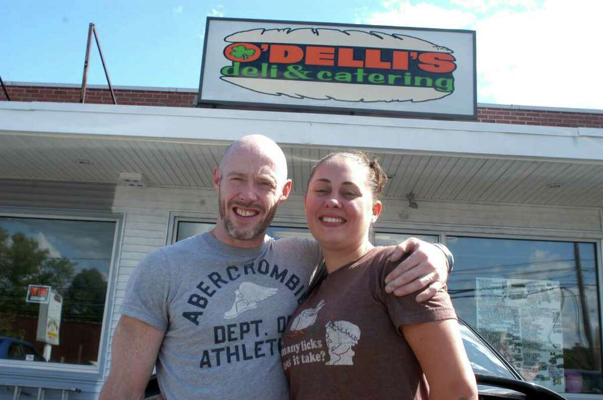 Casey and Vanessa OíDell are featuring healthy fare, deliveries and meals to go at their new business, OíDelliís Deli. The restaurant opened in Danbury this weekend at 10 Hayestown Ave.
