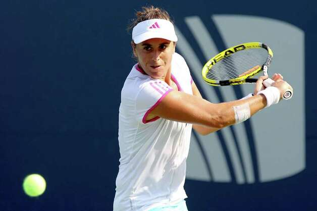 Anabel Medina Garrigues of Spain. Photo: Matthew Stockman/Getty Images / Connecticut Post