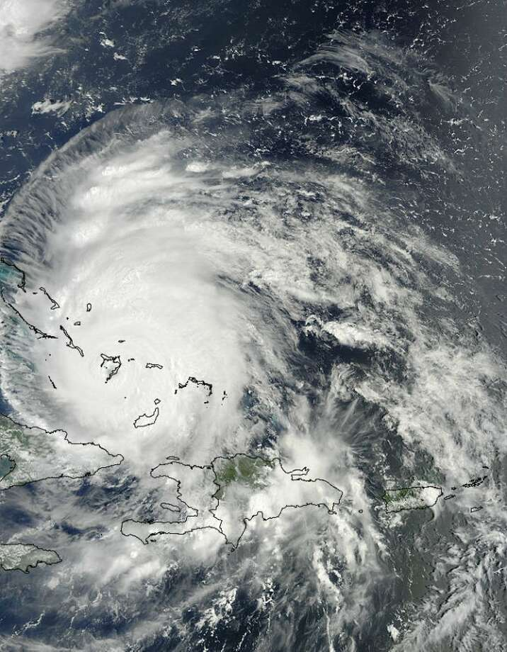 The MODIS Instrument aboard NASA's Terra satellite captured this visible image of Hurricane Irene over the southern Bahamas on August 24, 2011 at 15:05 UTC (11:05 a.m. EDT). Just three hours later at 2 p.m. EDT, Hurricane Irene's eye was over Crooked Island, Bahamas, near 22.7 North and 74.3 West. Irene's winds increased to 120 mph (195 kmh) and it was moving to the northwest near 12 mph (19 kmh). Irene's minimum central pressure is 954 millibars. Photo: Credit: NASA Goddard MODIS Rapid Response