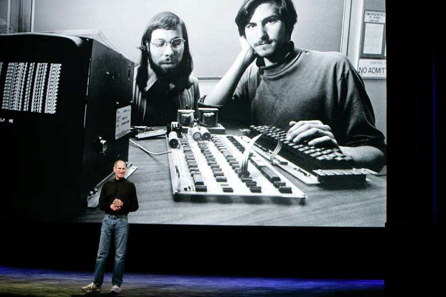 Apple Inc. CEO Steve Jobs announces the new iPad as he speaks during an Apple Special Event at Yerba Buena Center for the Arts January 27, 2010 in San Francisco, California. Apple introduced the iPad. Photo: RYAN ANSON, AFP/Getty Images / 2010 AFP