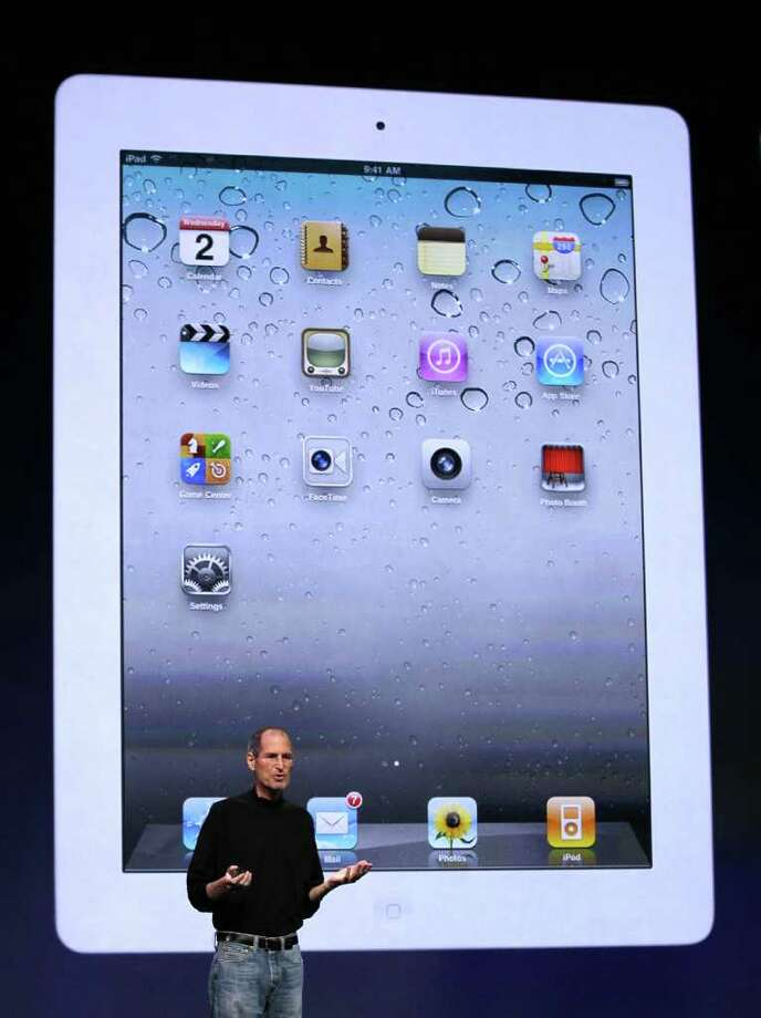 Apple CEO Steve Jobs speaks during an Apple Special event at the Yerba Buena Center for the Arts on March 2, 2011 in San Francisco, California. Apple unveiled the iPad 2 as the successor to its popular tablet, the iPad.  Photo: Justin Sullivan, Getty Images / 2011 Getty Images