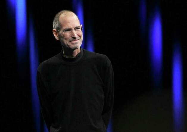 Apple's then-CEO Steve Jobs delivers the keynote address at the 2011 Apple World Wide Developers Conference at the Moscone Center on June 6 in San Francisco. Photo: Justin Sullivan, Getty Images / 2011 Getty Images
