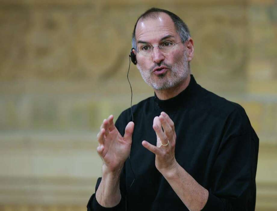 Chief Executive Officer of Apple Steve Jobs attends a press conference on September 19, 2007 in Berlin, Germany. Apple and T-Mobile announced that German telecom giant T-Mobile will be the exclusive German carrier of Apple's anticipated iPhone. Photo: Andreas Rentz, Getty Images / 2007 Getty Images