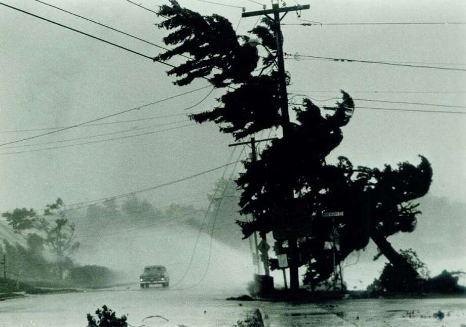 In 1985, Hurricane Gloria was the last major hurricane to hit Connecticut: Waves from Long Island Sound break over a car stopped by power lines brought down by the tree on New Haven Avenue in Milford, Conn. as Hurricane Gloria struck the Connecticut shoreline. Photo: UPI, ST / Stamford Advocate File Photo