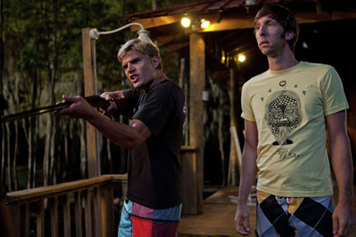 (L-R) Chris Zylka as Blake and Joel David Moore as Gordon in