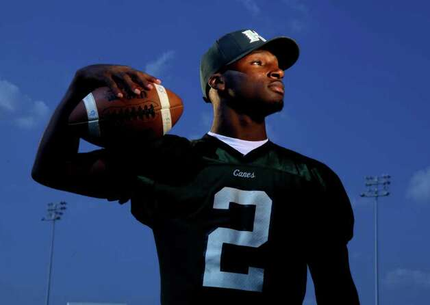 Quarterback Bralon Addison of Hightower High School is featured in the High School Football Preview and photographed at Delmar Stadium on Monday, Aug. 1, 2011, in Houston. Photo: Mayra Beltran, Chronicle / © 2011 Houston Chronicle