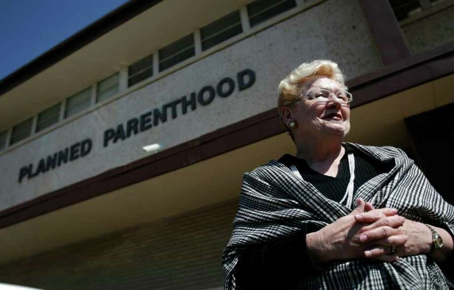 Claudia Stravato at the Planned Parenthood in Amarillo says that the business of family planning still poses a danger to those that work in clinics, even those not offering abortion. For a story about the problems that have occurred  since the Texas Legislature has cut funding to all Planned Parenthoods in the state, however, the Texas Panhandle is  one of the regions hardest hit by recent family planning funding cuts that have led to clinic closures and backlogs for routine women's health services such as annual exams, cancer screenings and appoitments to receive contraception. Photographed March 14, 2006. (Karen Warren/Houston Chronicle) Photo: KAREN WARREN, STAFF / Houston Chronicle