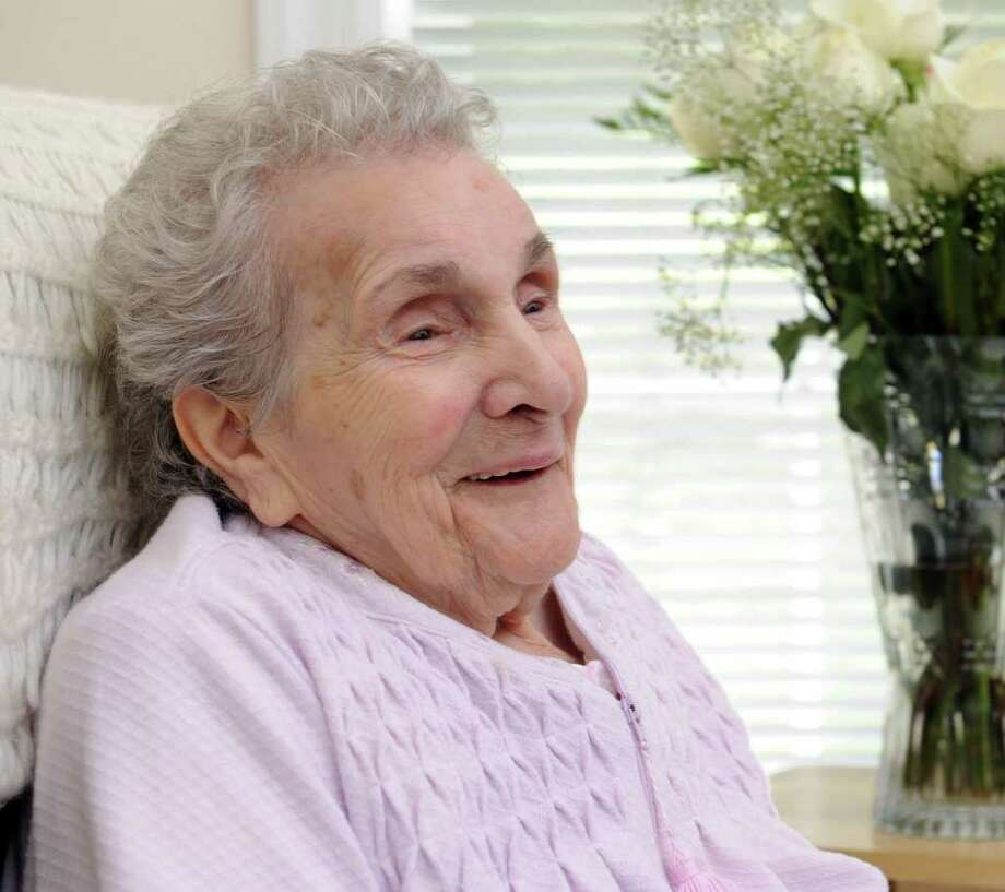 Ruby Coppola, of Brookfield, celebrated her 106th birthday on August 23. Photo taken Friday, Aug. 26, 2011. Photo: Carol Kaliff
