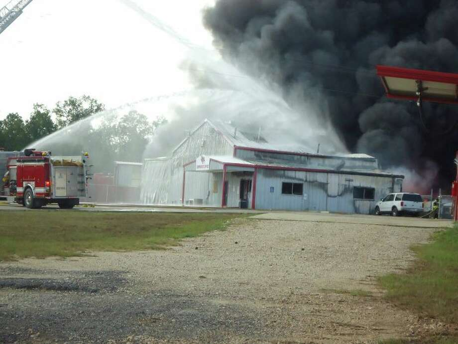A fire broke out at Latch Oil, Inc. in Jasper Friday. Photo: Jodie Warner/Jasper Newsboy