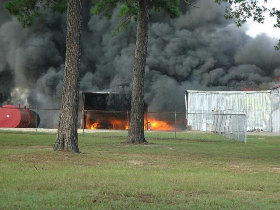 A fire broke out at Latch Oil, Inc. in Jasper Friday. Photo: Jodie Warner/Jasper Newsboy