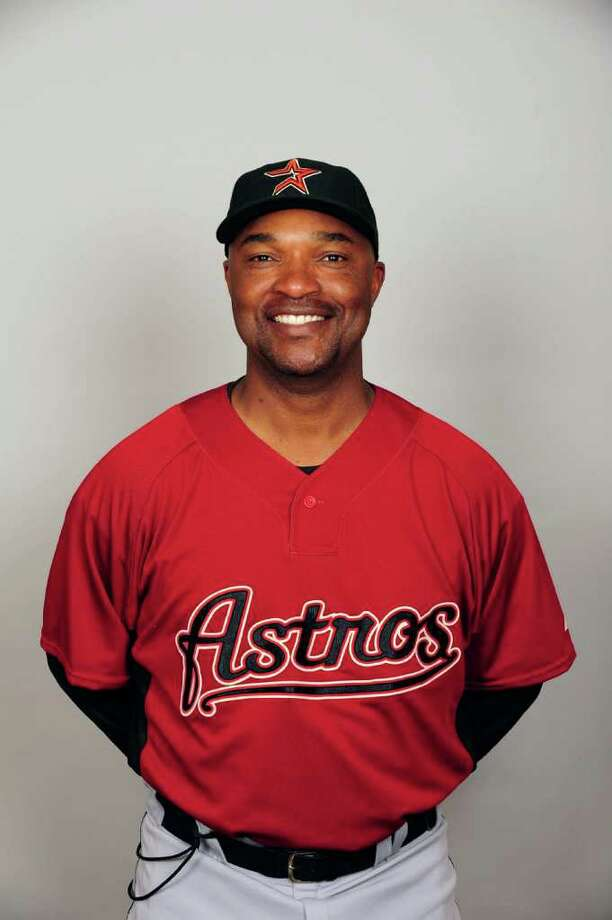 KISSIMMEE, FL - FEBRUARY 21:  Dave Clark #35 of the Houston Astros poses during Photo Day on Saturday, February 21, 2009 at Osceola County Stadium in Kissimmee, Florida.  (Photo by Tony Firriolo/MLB Photos). Photo: Tony Firriolo / DirectToArchive