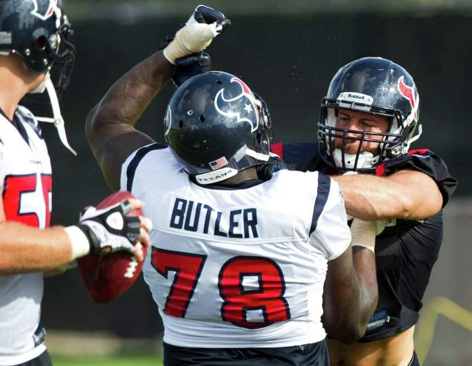 Backup tackle Rashad Butler isn't expected to play tonight in San Francisco. Photo: Brett Coomer, Houston Chronicle / © 2010 Houston Chronicle