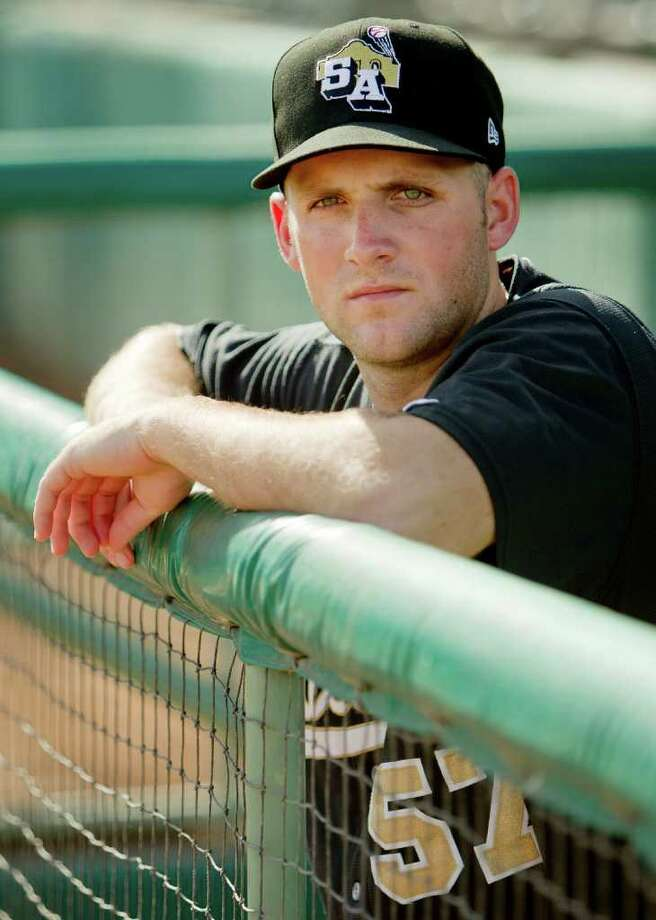 San Antonio Missions shortstop Beamer Weems poses before a Texas League baseball game, Sunday, Aug. 21, 2011, in San Antonio. Photo: Darren Abate, Express-News