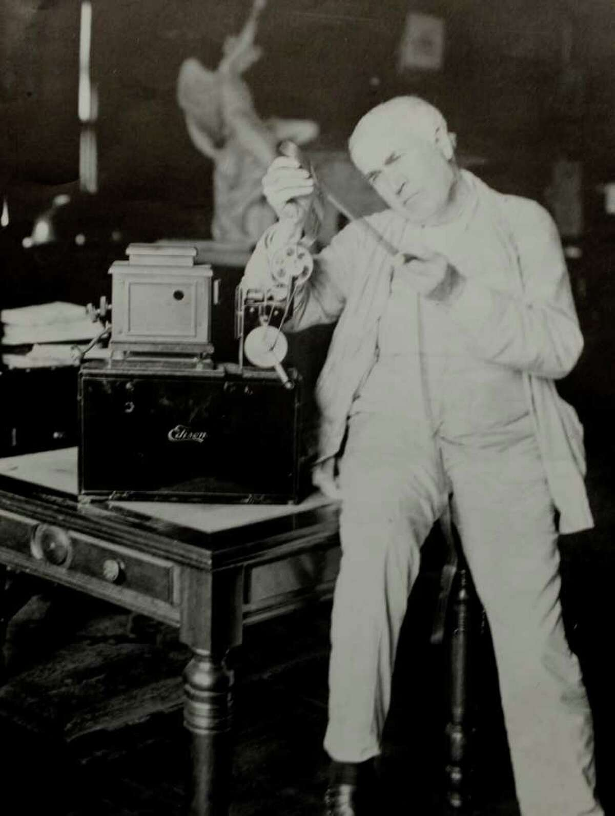 Click through the gallery to see photos related to General Electric in Schenectady through the years. Edison looks at an optical film from one of his film projectors from a handout image at the Schenectady Museum & Suits-Bueche Planetarium in Schenectady, New York, June 17, 2010.