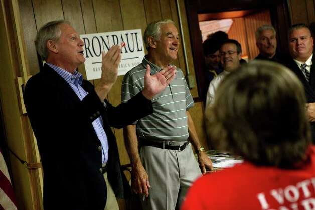 Congressman Ron Paul of Texas speaks at the Northside Cafe as he campaigns in Winterset, IA on Saturday, August 27, 2011. Photo: LISA KRANTZ, LISA KRANTZ/lkrantz@express-news.net / SAN ANTONIO EXPRESS-NEWS