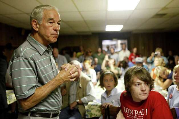 Congressman Ron Paul listens to a question from an audience member as he campaigns at the Northside Cafe in Winterset, IA on Saturday, August 27, 2011. Photo: LISA KRANTZ, LISA KRANTZ/lkrantz@express-news.net / SAN ANTONIO EXPRESS-NEWS