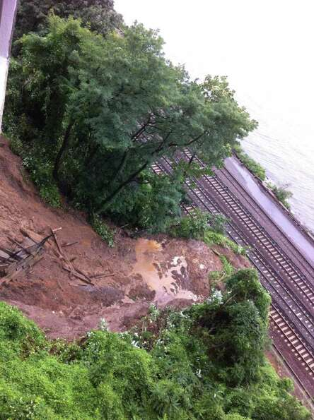 The tracks on the N line were flooded at 86th Street in Brooklyn. (Metropolitan Transportation Autho