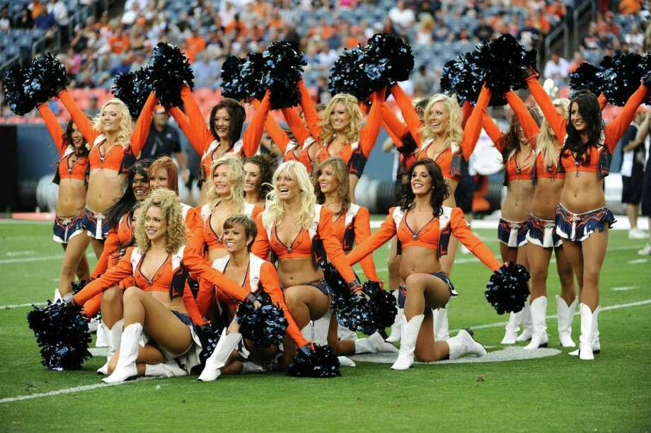 DENVER, CO - AUGUST 27: The Denver Broncos cheerleaders perform during the preseason game against the Seattle Seahawks at Sports Authority Field at Mile High on August 27, 2011 in Denver, Colorado. Photo: Garrett Ellwood, Getty Images / 2011 Garrett Ellwood