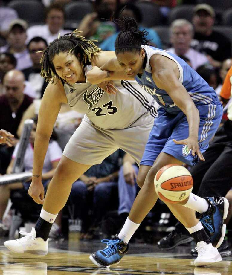 Jessica Adair (right): Currently plays for the Minnesota Lynx of the WNBA. Photo: EDWARD A. ORNELAS, Express-News / SAN ANTONIO EXPRESS-NEWS (NFS)